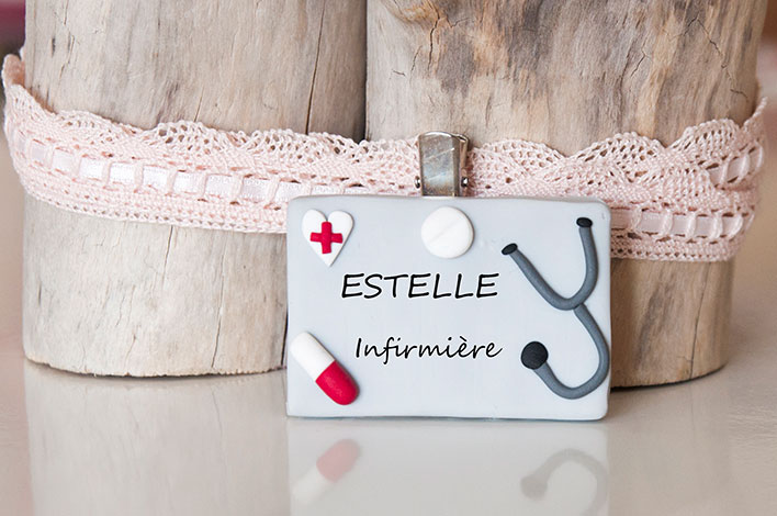 badge infirmiere personnalisable