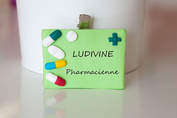 badge pharmacienne