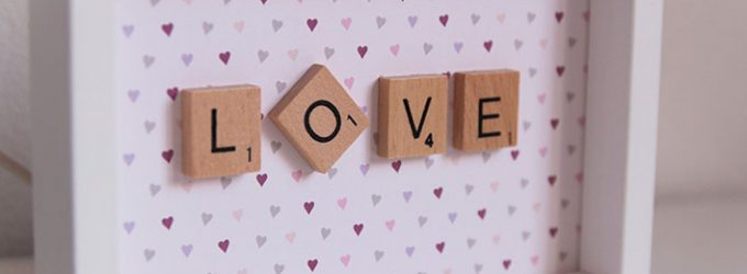 décoration scrabble love